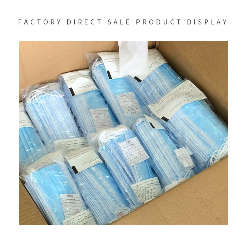 Fast Delivery 3-layer Mask Face Disposable Mask Anti-virus 50pcs Outdoor Mouth Mask Non Woven Anti-Dust Meltblown Cloth Masks