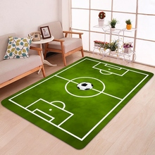3D Football Area Rugs Flannel Rug Carpet Baby Play Crawl Mat Large Carpets for Home Living Room/Kids Room Decor simple modern thicken lamb velvet rug bedside bedroom soft carpets for living room decor carpet can custom home large area rugs