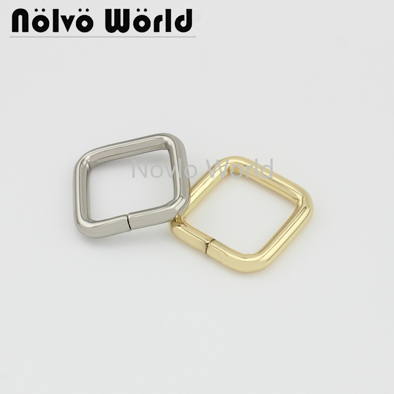 Wholesale 500pcs, Inner Width 20*20mm 3/4 Inch,5 Colors Accept Mix Color, Metal Rectangle Buckle Handbags Adjusted Accessories