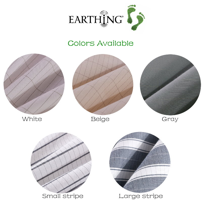Earthing Silver Fabric for bed sheets conductive cotton fabric for making sheet Large Stripe