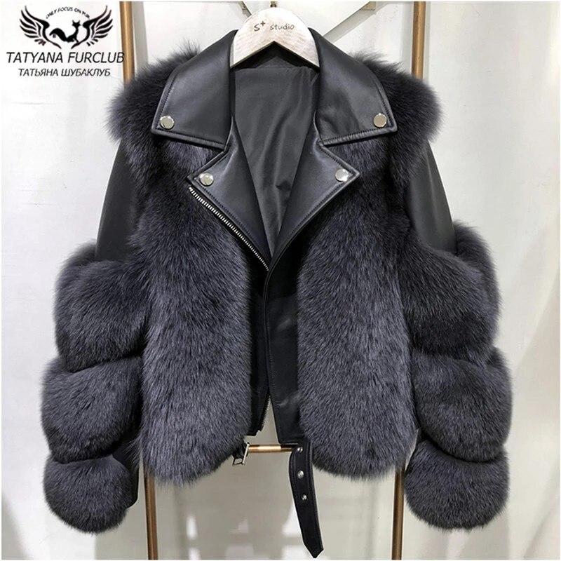 Winter Fashion Women Real Fox Fur Coats With Genuine Sheepskin Leather Whole skin Natural Fox Fur Jacket Luxury Outwear 2020 New|Real Fur| - AliExpress