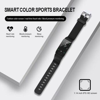 Q1 Smart Watch Men Women Blood Pressure Smartwatch Watch Waterproof Heart Rate Tracker Sport Clock Watch Smart For Android IOS
