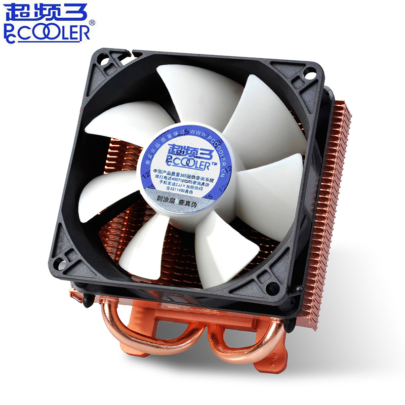 Pccooler K80 2 Copper Heatpipe Copper Plating Heatsink Graphics Card Cooler 80mm Quiet Fan VGA Cooling GPU Radiator 3pin & Molex