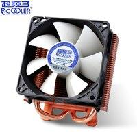 Pccooler K80 2 heatpipe de cobre chapeamento de cobre do dissipador de calor da Placa Gráfica cooler 80mm 3pin ventilador silencioso ventilador de refrigeração VGA GPU radiador & Molex Ventiladores e resfriadores     -