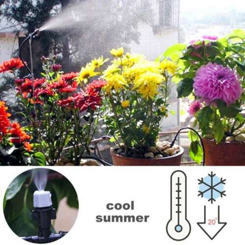 Irrigation Misting Cooling System Water Mister 20 Nozzle Yard Watering For Outdoor Mist Cooling System