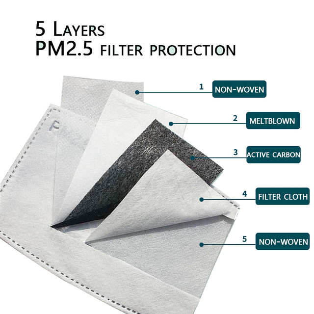 fashion washable dust mask cotton with breathing valve activated card plug in filter mask face mouth protection mask 3