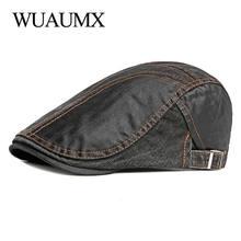 Wuaumx британский стиль берет шапки для мужчин и женщин весна