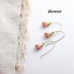 2019 New Retro Sweet Tulips Flower Alloy Dangle Earrings,Temperamental Accessories Wholesale