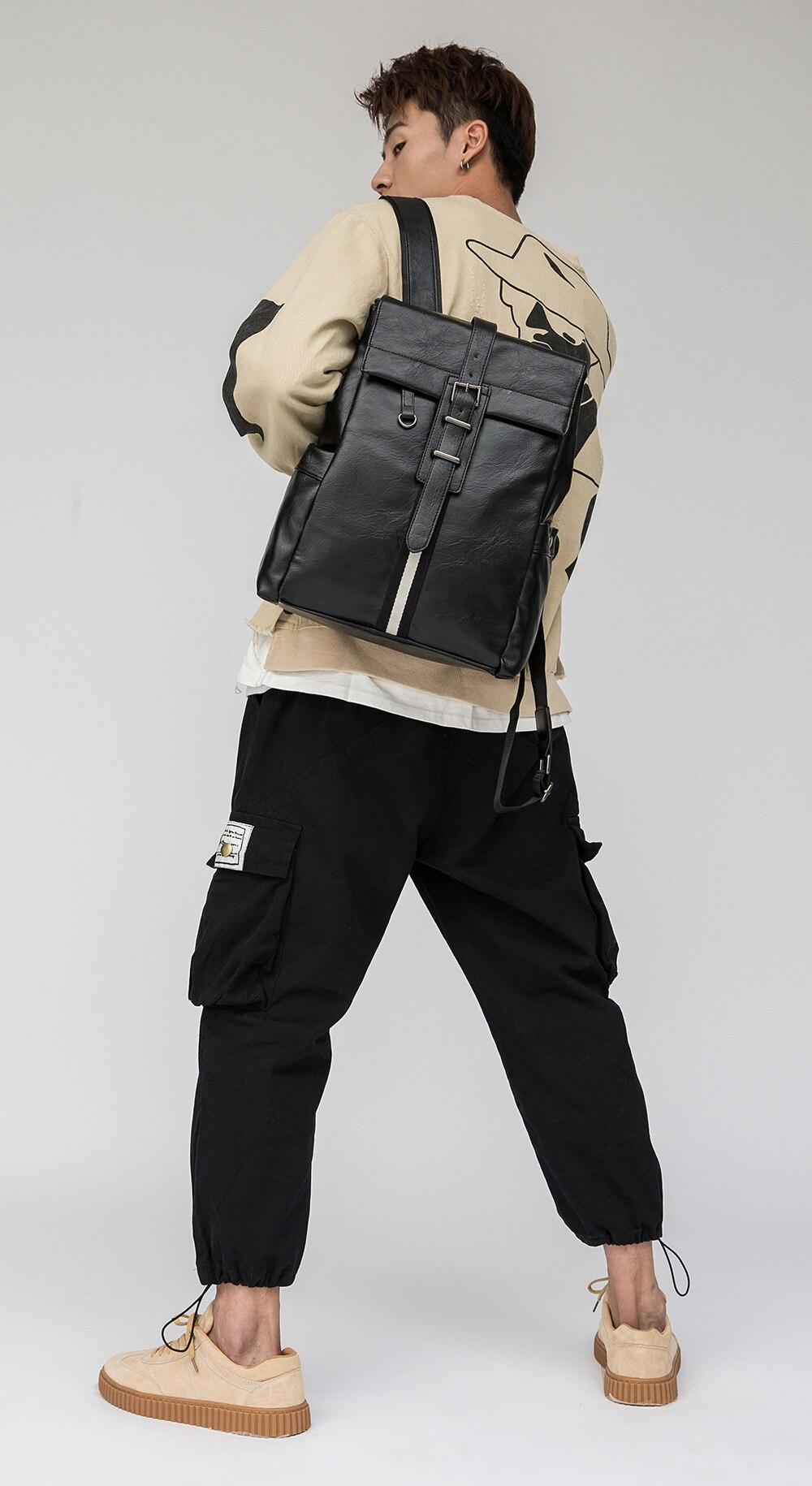 de grande capacidade superfície macia moda casual mochila masculina