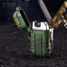 Explorer Lighter Encendedor Outdoor Use Waterproof Windproof Double Arc Pulse Cigarette Smoking USB Charging Lighters