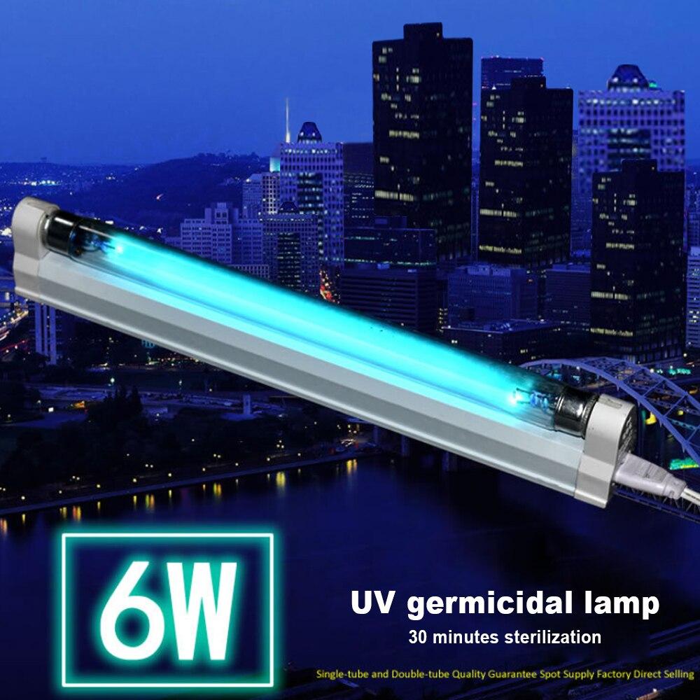 110v 220v 6W 8W UV LED Lamp Germicidal Sterilizer  Ultraviolet Quartz Linear Light Ozone Generator Disinfection Deodor Bar Tube