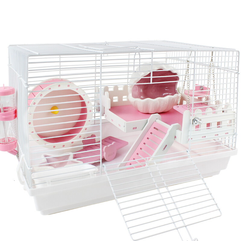 Hamster Cage Double Transparent Deluxe  Villa  Nest  Supplies