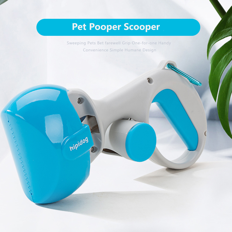 Hipidog Pet Pooper Scooper Long Handle Portable Pet Dog Pooper Scooper Waste Cleaner