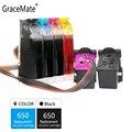 GraceMate 650 СНПЧ чернила для Hp 650 XL для Deskjet 1015 1515 2515 2545 2645 3515 3545 4515 картриджи для принтера