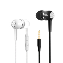 Wired Earphone In Ear Sport Headset 3.5mm Plug With Mic Earpiece Bass Earplug For Samsung IPhone IPod Huawei Xiaomi Phone Pc MP3 все цены