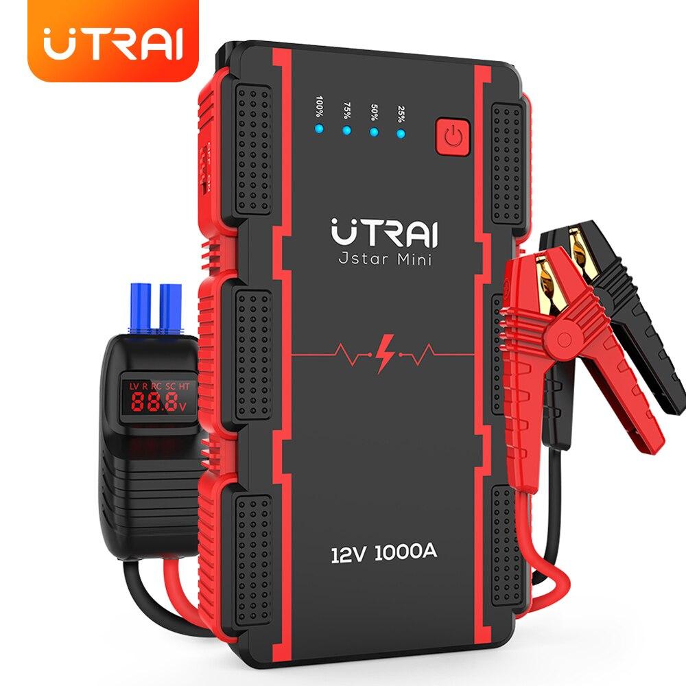 UTRAI скачок стартер 13000 мАч 1000A мини Мощность банка для аварийном автомобилем 12В стартер авто усилитель Батарея
