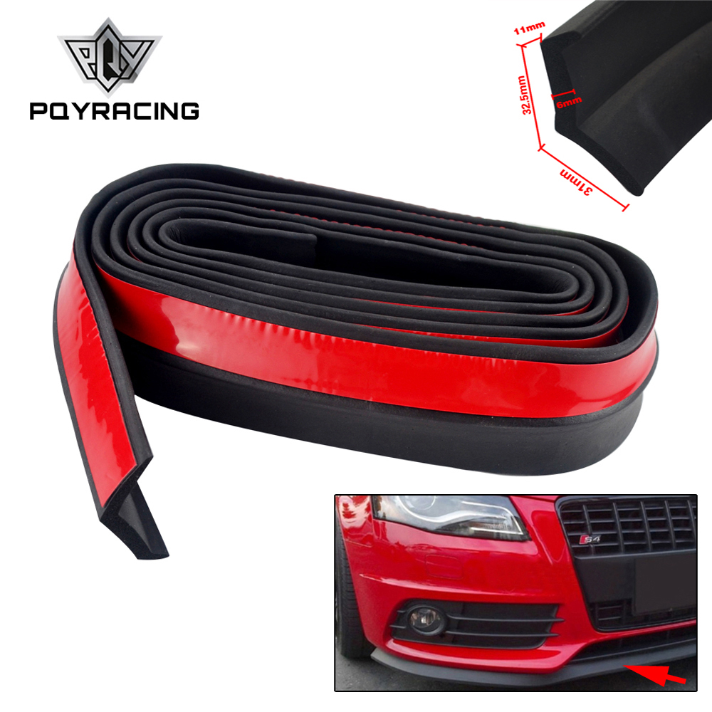 2.5M Car Bumper Lip Stickers Car Front Bumper Lip Rubber Car Bumper Protectors Exterior Mouldings Bumper Lip Strip 65mm Width