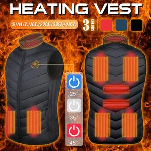 9 Areas Men Heated vest Smart heating Cotton Vest USB Infrared Electric Heating Vest Women Outdoor Thermal Winter Warm Jacke