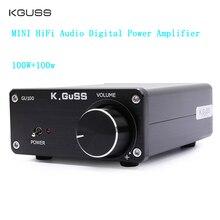 цена на KGUSS GU100 MINI HiFi Class D Audio Digital Power Amplifier tpa3116d2 TPA3116 Advanced 2*100W Mini Home Aluminum Enclosure amp