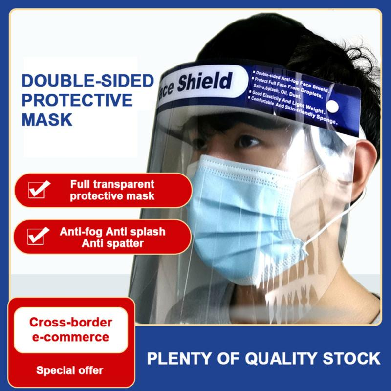 Clear Full Face Masks Anti-droplets Anti-fog Dust-proof Face Shield Protective Cover Transparent Face Eyes Protector Safety Mask