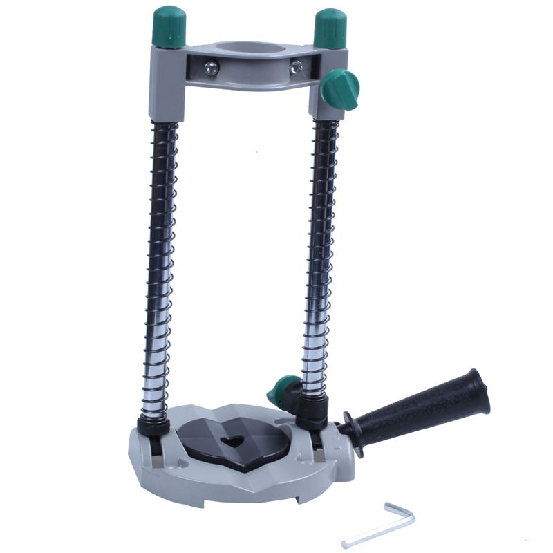 Precision Drill Guide Pipe Drill Holder Stand Drilling Guide With Adjustable Angle And Removable Handle DIY Tool