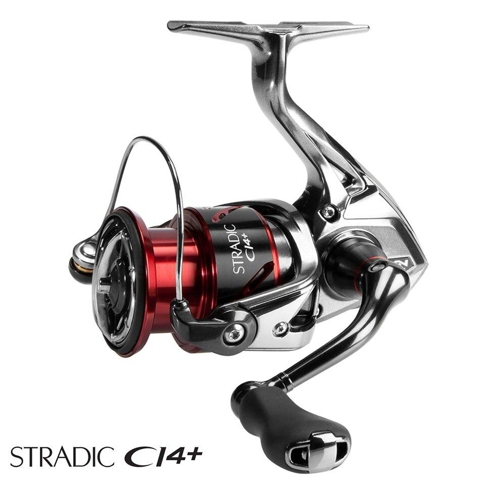 SHIMANO Stradic ci4 + carrete de pesca giratorio 160g peso HAGANE engranaje 1000-4000XG 6 + 1BB carrete AR-C de pesca de agua de mar carrete
