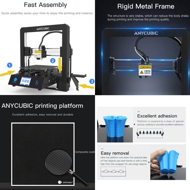 ANYCUBIC Mega-S Mega S 3D Printer I3 Mega Upgrade Large Size TPU High Precision Touch Screen DIY 3D Printer kit impressora 3d Computer, Office & Security