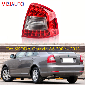 LED Rear Tail Light For SKODA Octavia A6 For RS 2009-2013 Tail Stop Brake Lights Car Parts Rear Turn Signal Fog Reflector Lamp led rear tail lights for ford transit 2014 tail stop brake lights european version car accessories rear turn signal fog lamp