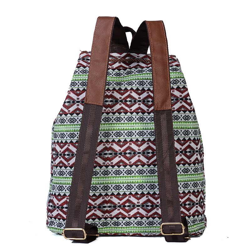 2020 Vintage Embroidery Ethnic Canvas Backpack 4
