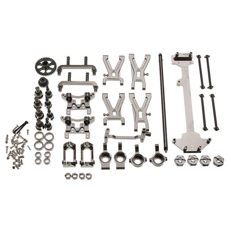 Hot Upgrade Metal Parts Accessories Kit For Wltoys K929 A959 A969 A979 A959B A979B 1/18 Remote Control Car Parts  Aluminum Metal