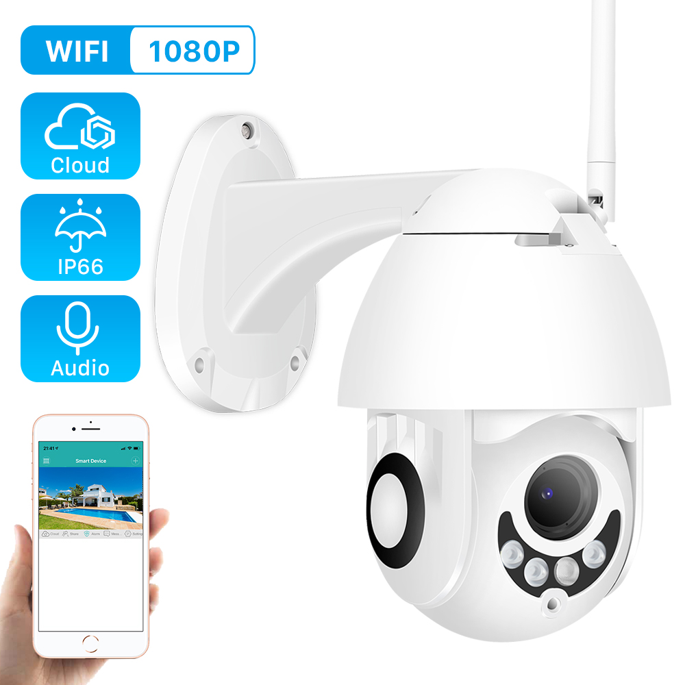 Wifi-Camera Outdoor Ptz Dome Cctv Home-Surveilance 2MP IR H.265x1080p-Speed