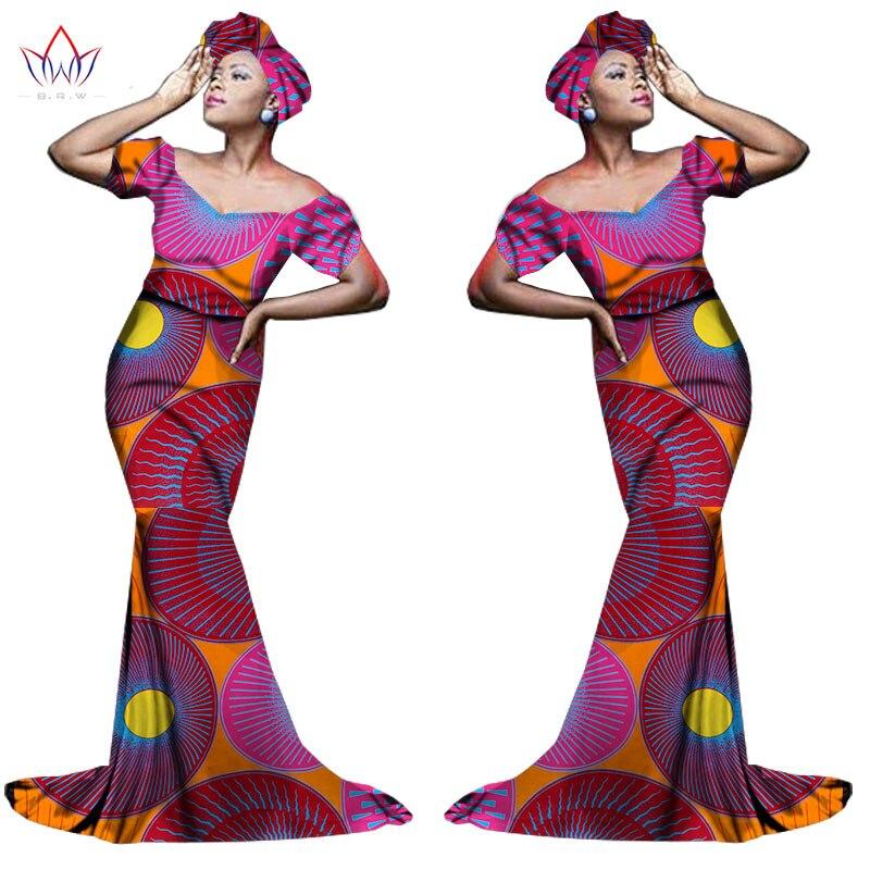 Африканский хлопчатобумажный материал Платья Для Женщин Дашики традиционная Анкара Мода Африка одежда с коротким рукавом Анкара платья WY963 - Цвет: 24