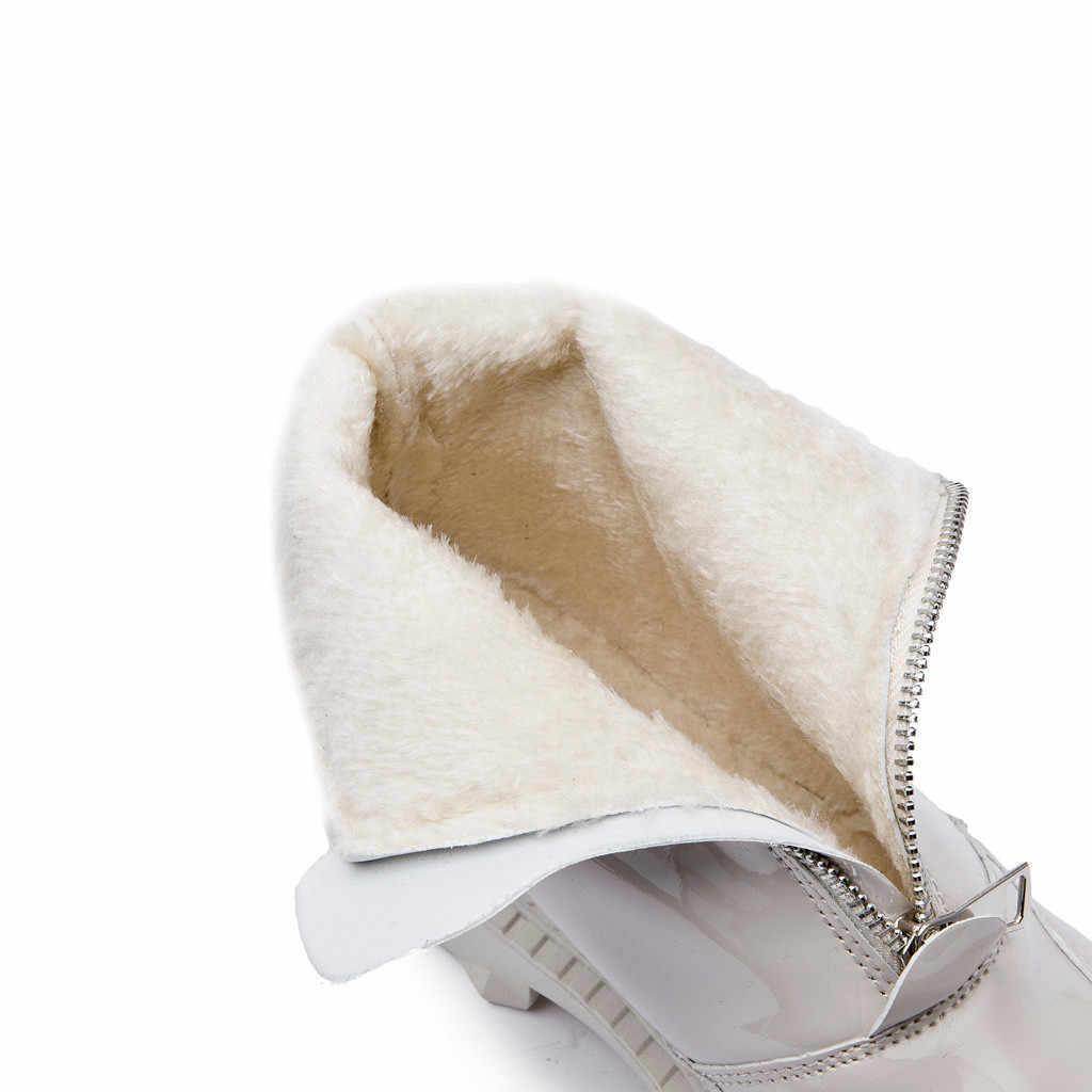Botki dla kobiet moda krótkie buty kalosze antypoślizgowe buty na niskim obcasie zamek błyskawiczny woda solidna gumka buty botas feminina