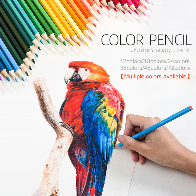 72/36/48colors Drawing Pencil Set Colored Pencil Set Artist Painting Pencil Wooden Graffiti Stationery Crayons Multifunctional 1
