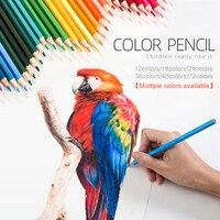 Dibujo a lápiz de color, conjunto de lápiz artista pintura lápiz 18/36/48 colores de madera Material de papelería para grafiti crayones multifuncional