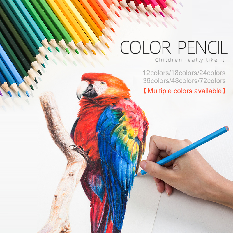 Drawing Pencil Set Colored Pencil Set Artist Painting Pencil 18/36/48colors Wooden Graffiti Stationery Crayons Multifunctional
