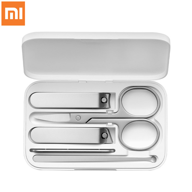 Xiaomi Mijia Stainless Steel Nail Clippers Set Trimmer Pedicure Care Clippers Earpick Nail File Professional Beauty Trimmer Tool 1