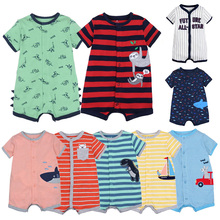 Cotton Jumpsuit Short-Sleeve Body-Suits Kids Rompers Menino Baby-Boys Summer for 0-24M