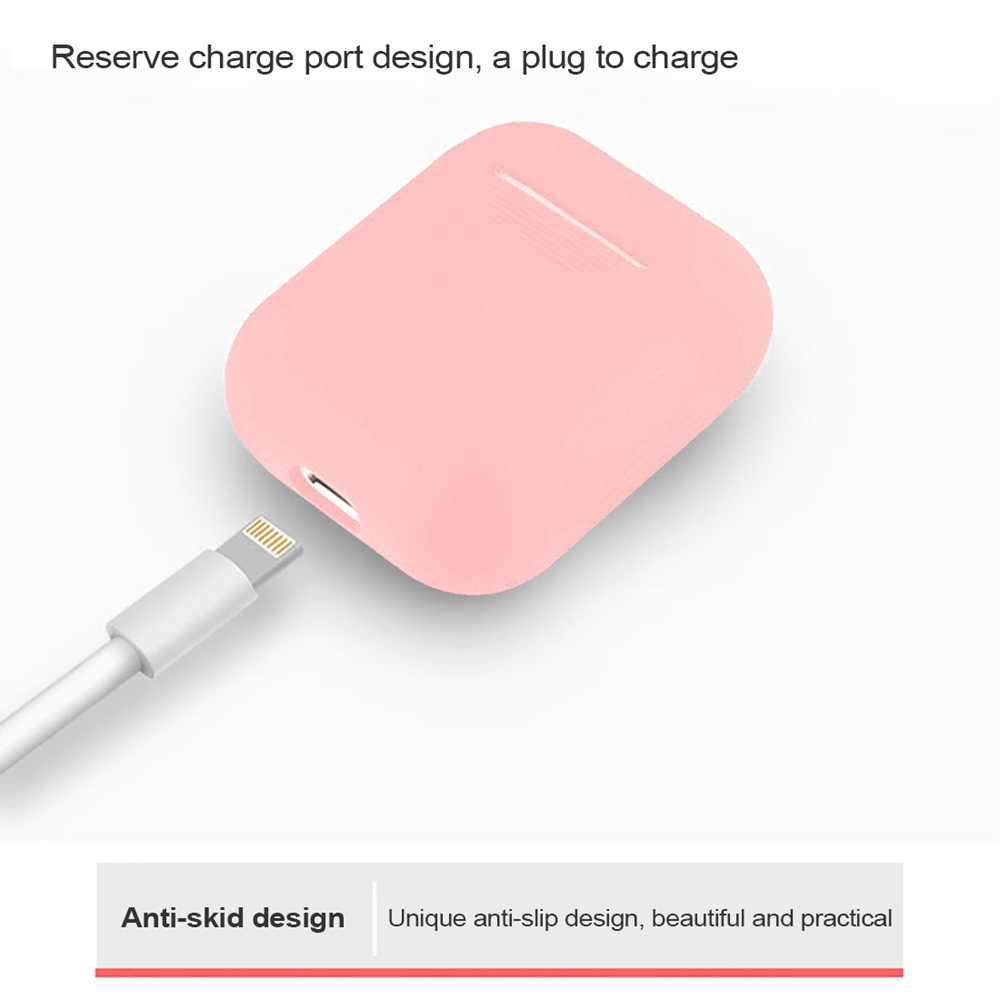 Soft Silicone Case For Apple Airpods Shockproof Cover For Apple AirPods Earphone Cases Air Pods i12 i11 i10000 Protector Case