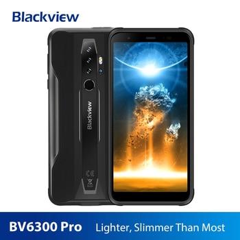 Купить Смартфон Blackview BV6300 Pro, прочный, Helio P70, 6 ГБ + 128 ГБ, 4380 мАч, Android 10,0, мобильный телефон NFC, IP68 водонепроницаемый телефон, 2020