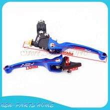 Алюминий синий ASV складные Рычаги Тормозная система сцепления для мотокросса Atv pit dirt bike Thumpstar SSR SDG