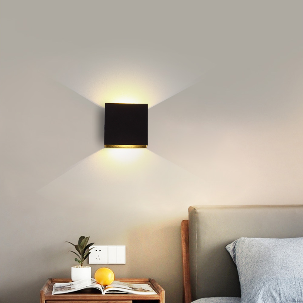 Adjustable Brightness 6W 12W LED Wall Lamp Simple Indoor Stairs Passage Bedroom Living Room Wall Light