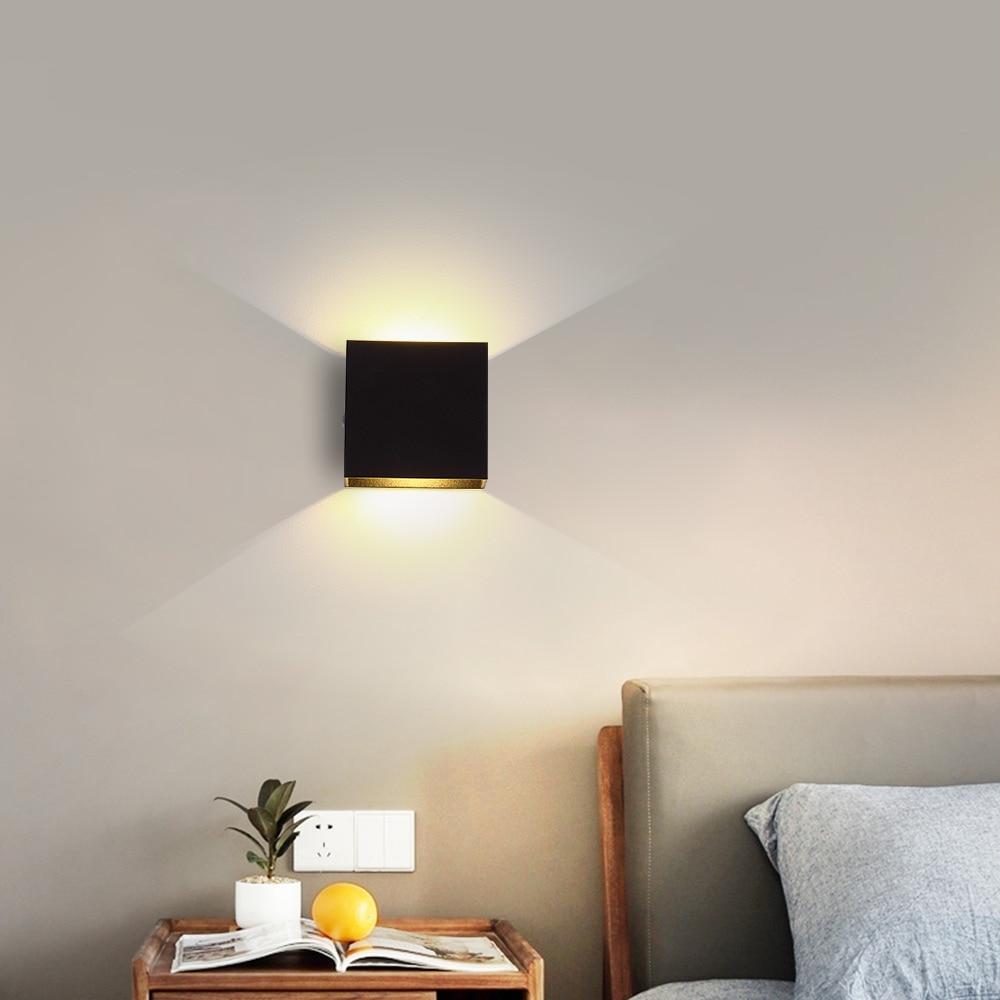 Adjustable Brightness 6W LED Wall Lamp Simple Indoor Stairs Passage Bedroom Living Room Wall Light