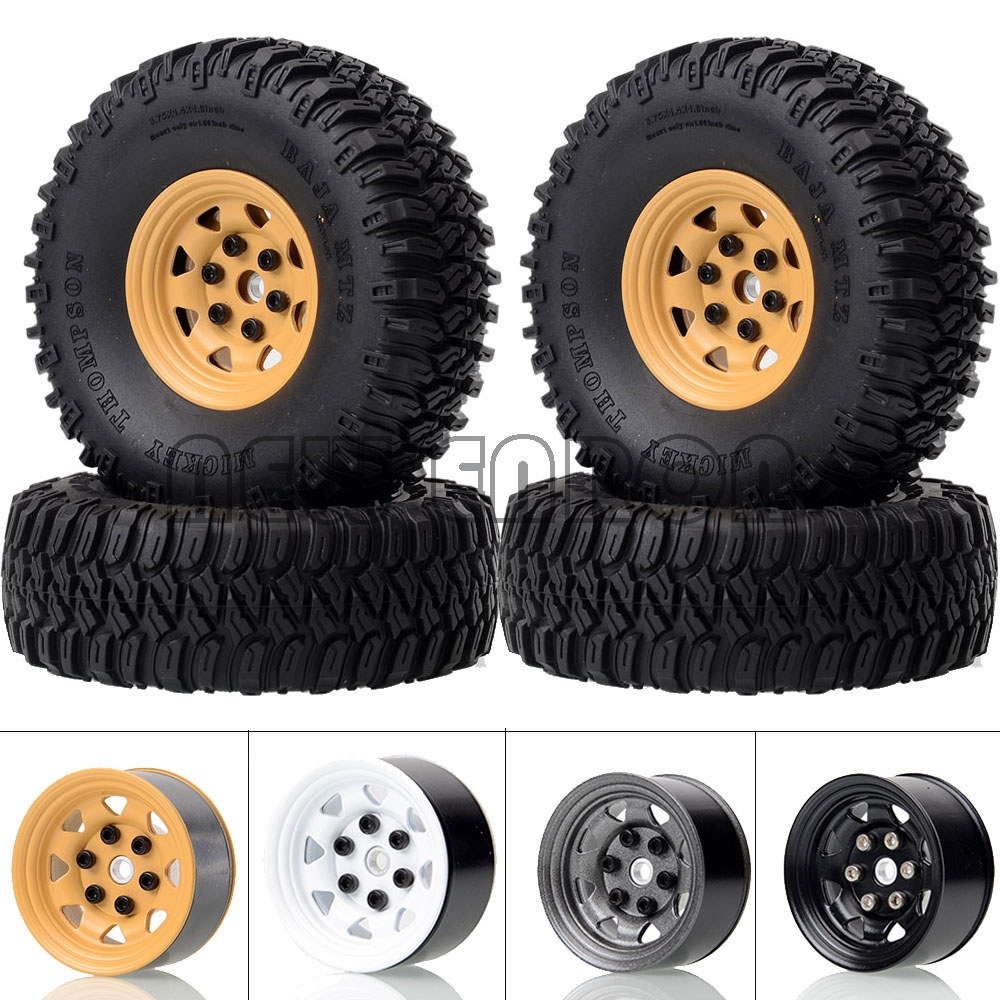"""NEW ENRON 1.55"""" 4P Metal Beadlock Wheels Rims Hub 96MM Tyre Tires for RC 1/10 RC4WD D90 TF2/ Tamiya CC01 LC70 MST JIMNY Axial