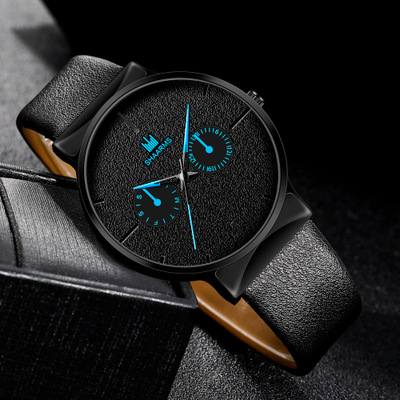 Luxury Quartz Watches For Men Leather Strap Clock Men's Fashion Sports Casual Wrist Watches
