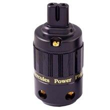 HiFi MPS Hercules 8 HiFi power AC kabel pulg C 8 Adapter Stecker 24K gold Überzogene weibliche Power stecker verstärker