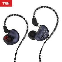 TRN V90 Headphones 4BA 1DD Metal Headset Hybrid Units HIFI Bass Earbuds Monitor Earphones Noise Cancelling TRN M10 VX V80 T2