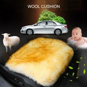 Image 4 - 100% Natural Fur Australian Sheepskin Car Seat Covers, Universal Wool Car Seat Cushion,Winter Warm Car Seat Cover