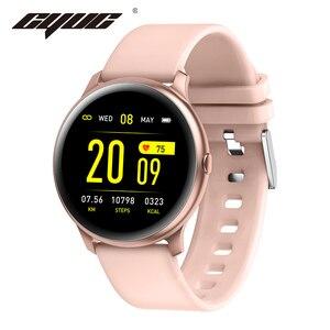 Image 1 - CYUC KW19 Pro wommen умные часы полный сенсорный экран кислорода в крови давление спорт smartwatch мужчины трекер фитнес для android IOS