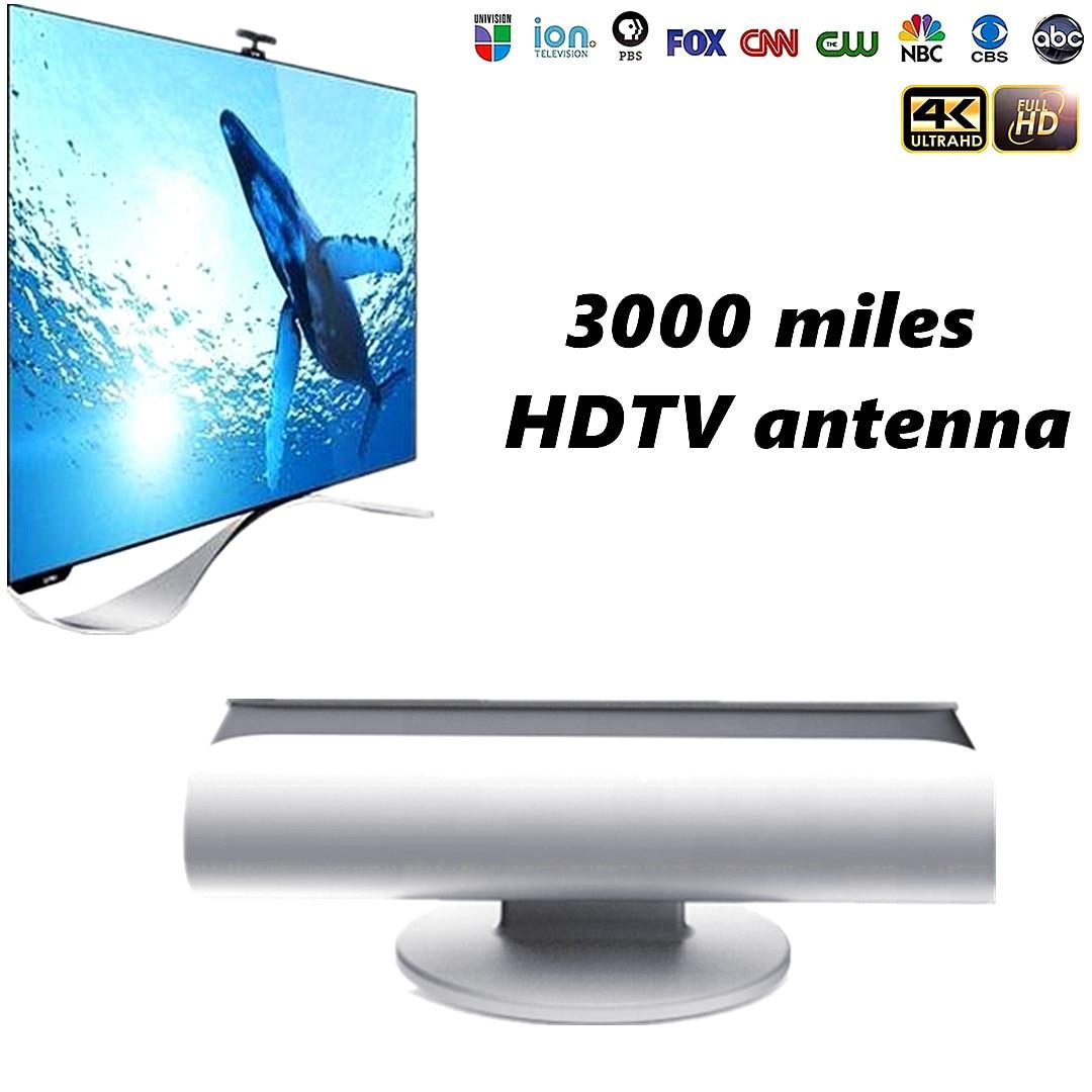 Ao ar livre Indoor 5000 Milhas antenas Antenas HDTV Receptor de satélite de tv digital Amplificador De Surf Raposa DVB-T2 isdb-t receptor de satélite prato